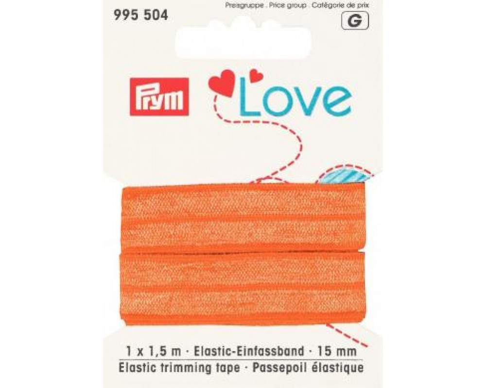 Foldeelastik fra Prym. Orange-31