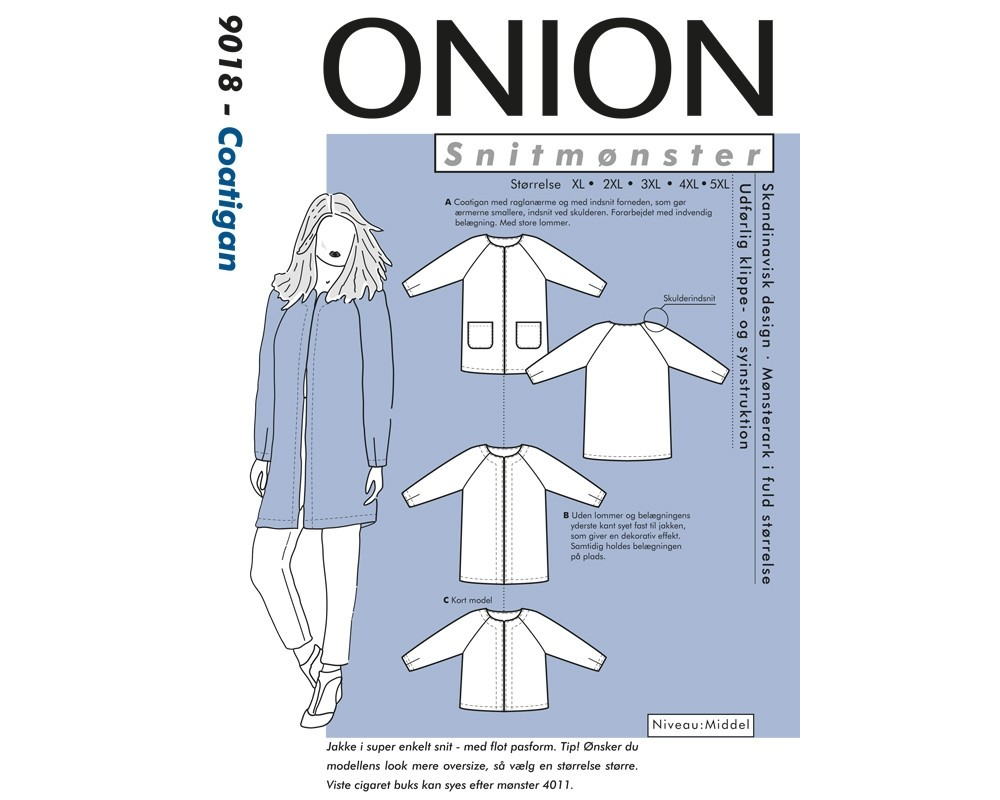 Onion 9018 Coatigan plussize XL-5XL-31