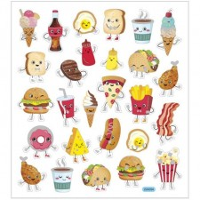Stickers med fast food