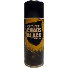 Chaos Black Spray fra Games workshop