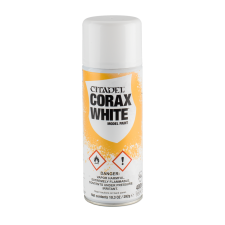 Corax White undercoat spray fra Citadel, Games workshop