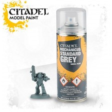 Mechanicus Standard Grey spray fra Citadel, Games Workshop