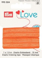 Foldeelastik fra Prym. Orange-20